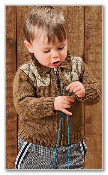вязание спицами описание детской модели со схемой и выкройкой